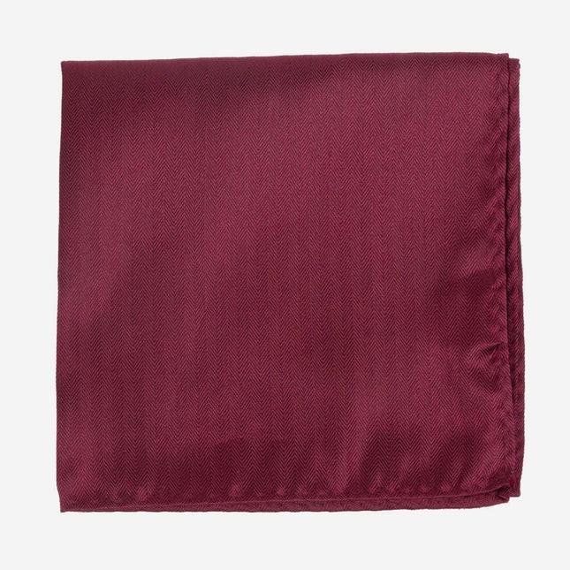 Mumu Weddings - Desert Solid Merlot Pocket Square