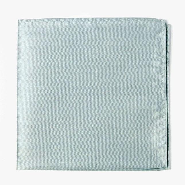 Mumu Weddings - Desert Solid Icy Blue Pocket Square