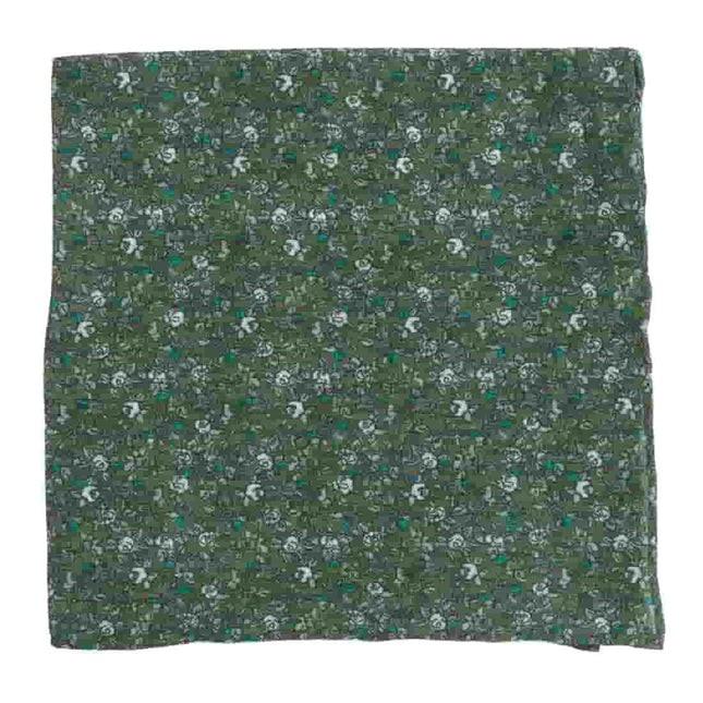 Wild Rosa Olive Green Pocket Square