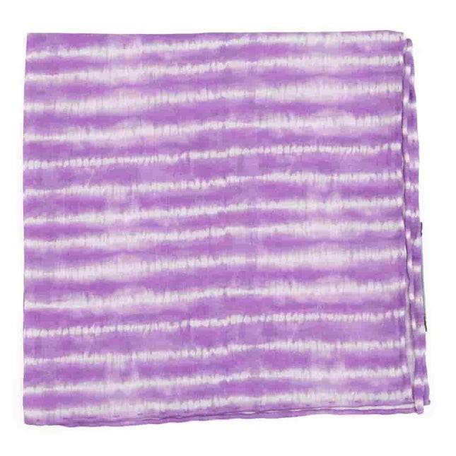 Day Dreamer Stripe Lavender Pocket Square
