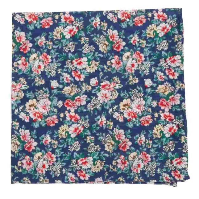 Rustica Florals Navy Pocket Square