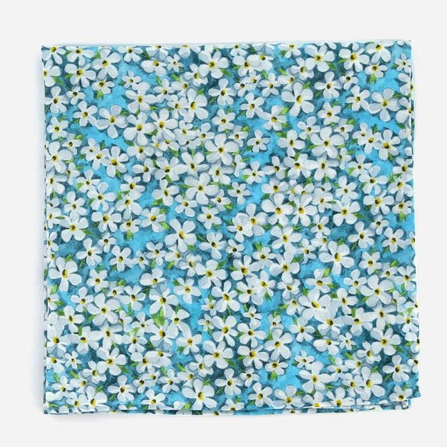 Liberty Petal Wish Pool Blue Pocket Square