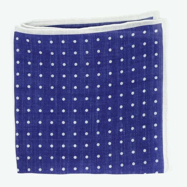 Bali Dots Blue Pocket Square