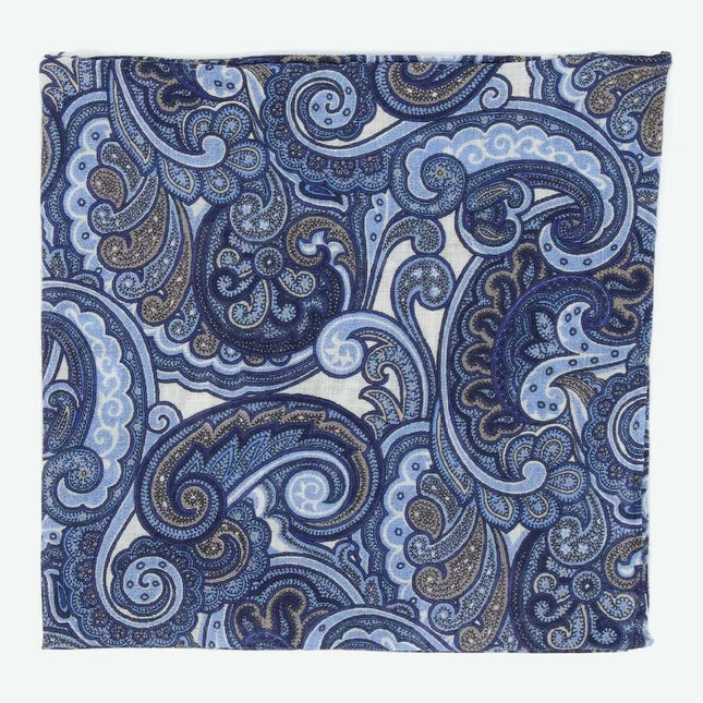 Bali Paisley Blue Pocket Square