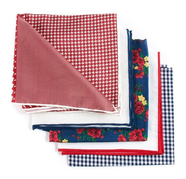 Trendy Red Pack Pocket Square