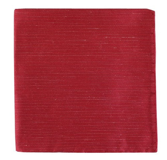 Fountain Solid Red Pocket Square