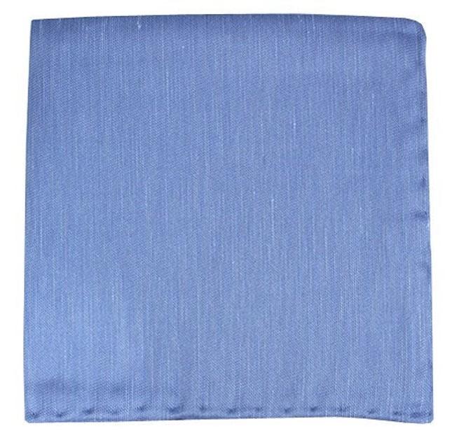 Sand Wash Solid Light Blue Pocket Square
