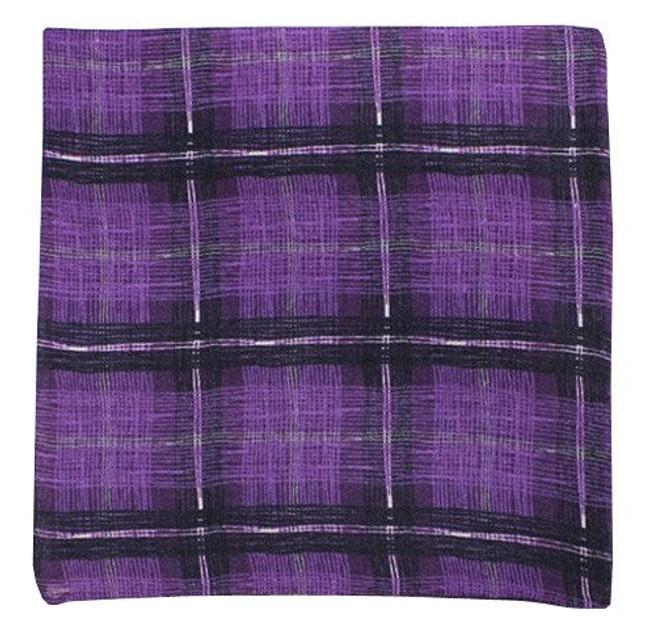 Strand Plaid Purples Pocket Square