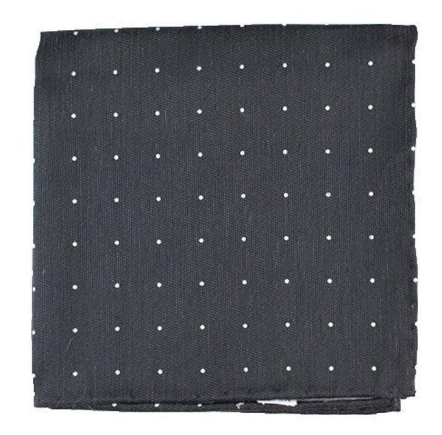 Bulletin Dot Grey Pocket Square