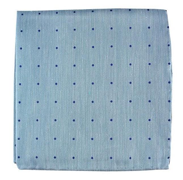 Bulletin Dot Washed Pool Blue Pocket Square