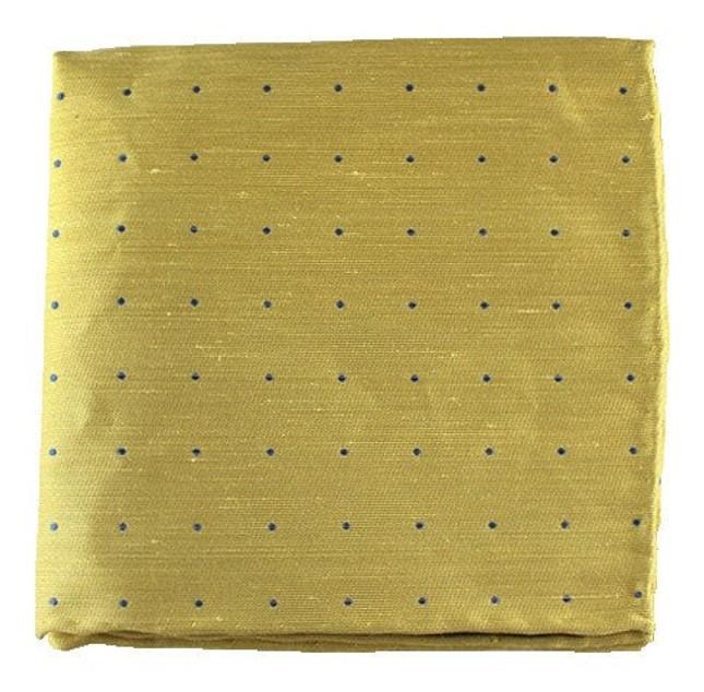 Bulletin Dot Yellow Pocket Square