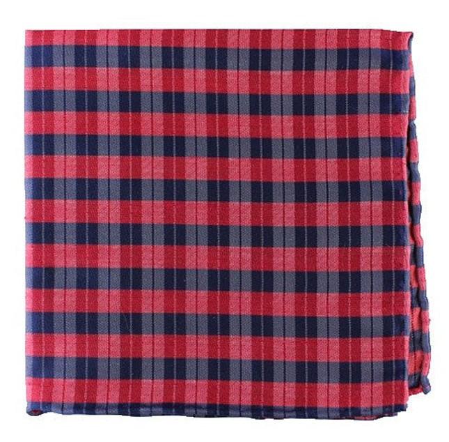 Profile Plaid Apple Red Pocket Square