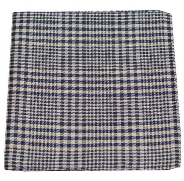 Huntington Plaid Light Champagne Pocket Square