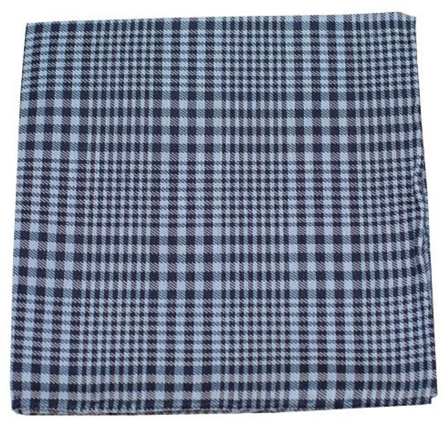 Huntington Plaid Light Blue Pocket Square