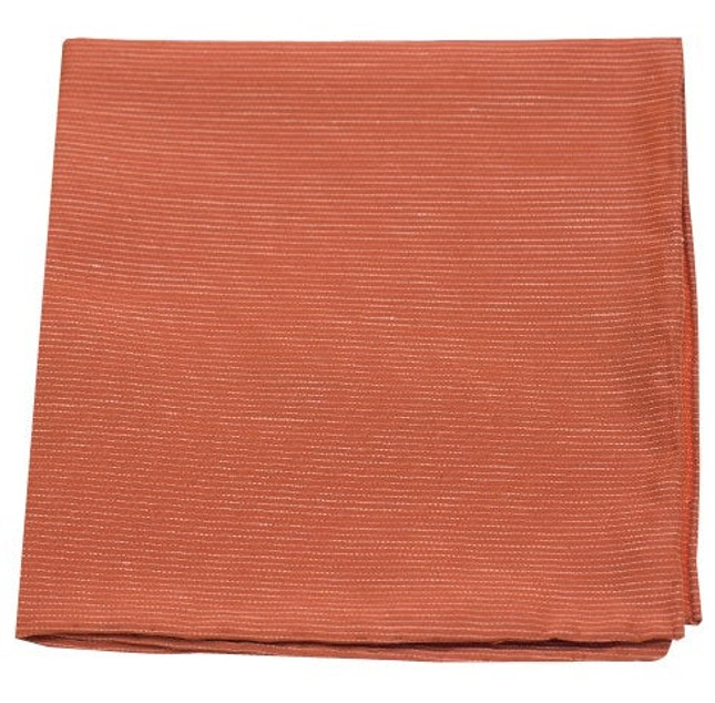 Fountain Solid Orange Pocket Square