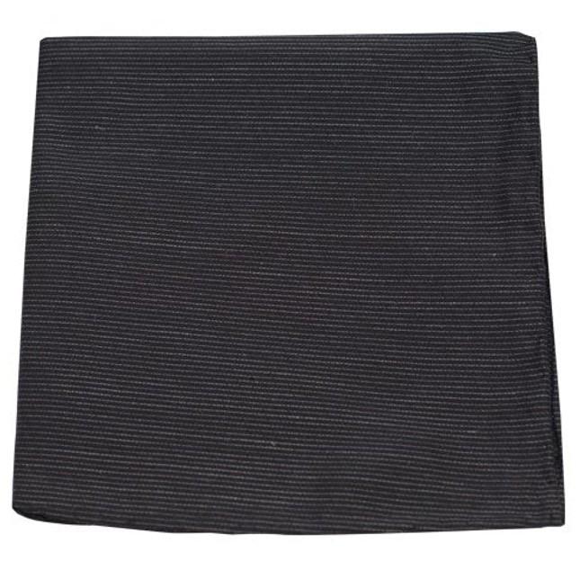 Fountain Solid Black Pocket Square