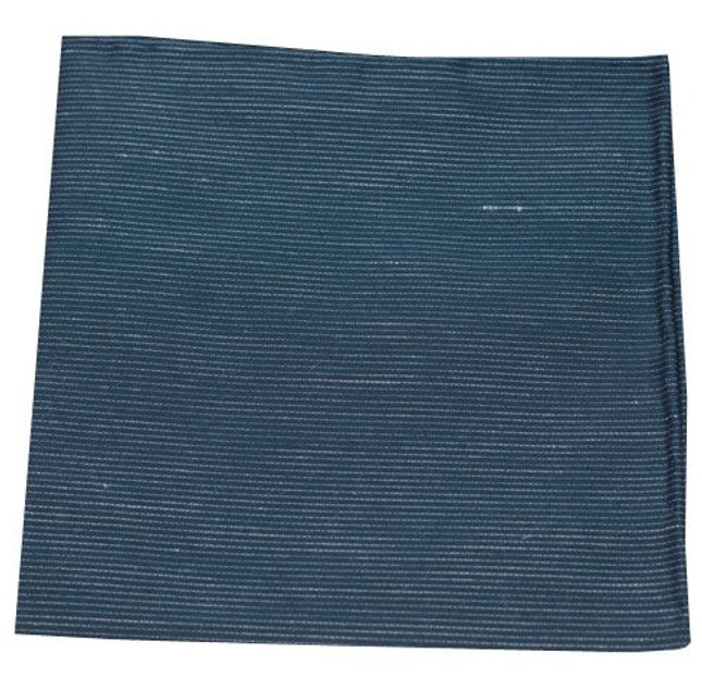 Fountain Solid Deep Serene Blue Pocket Square