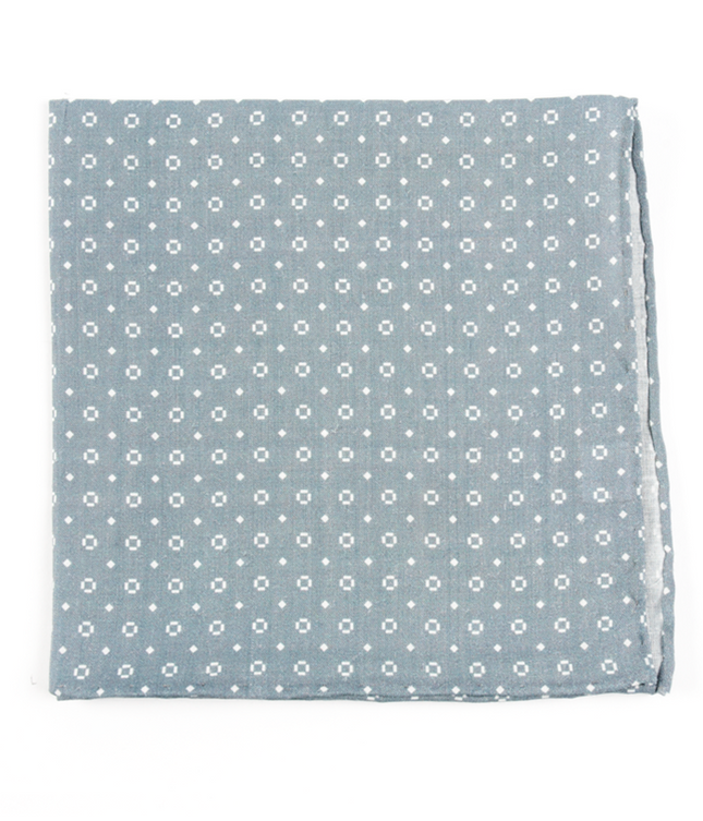Geo Scope Grey Pocket Square
