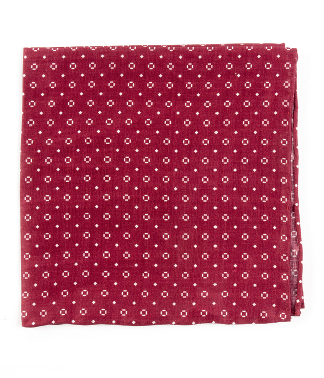 Geo Scope Marsala Pocket Square