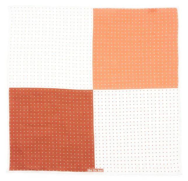 Revolution Dots Burnt Orange Pocket Square