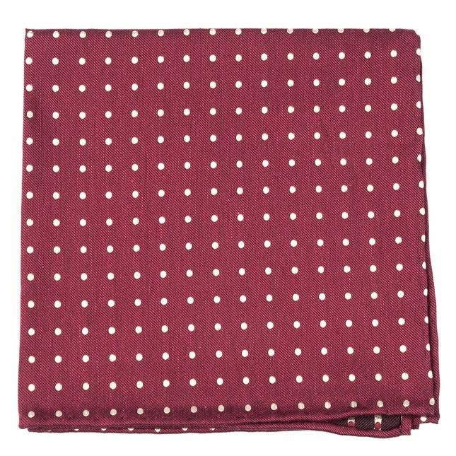 Dotted Dots Burgundy Pocket Square