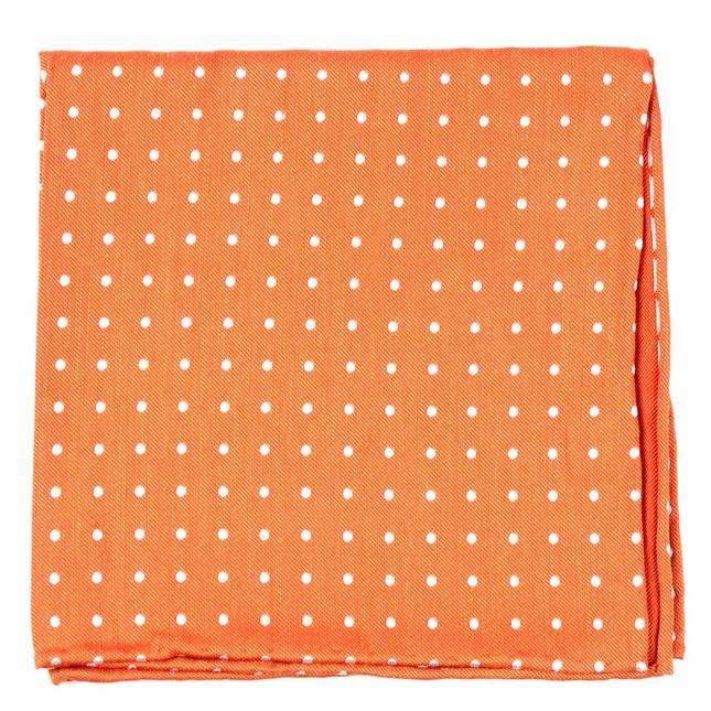 Dotted Dots Orange Pocket Square