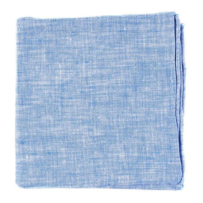 Freehand Solid Light Blue Pocket Square