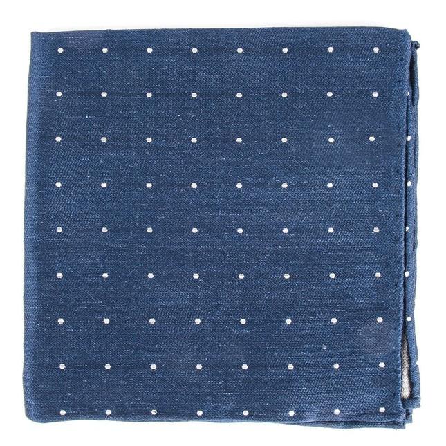 Bulletin Dot Navy Pocket Square