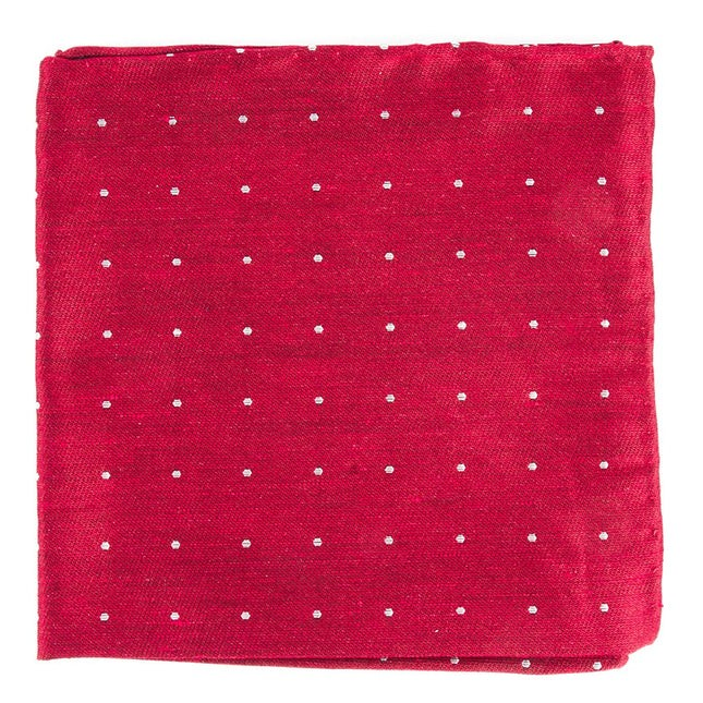 Bulletin Dot Red Pocket Square