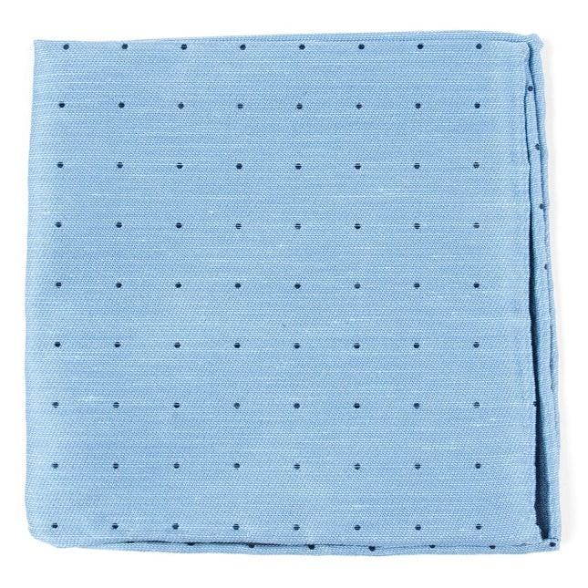 Bulletin Dot Sky Blue Pocket Square