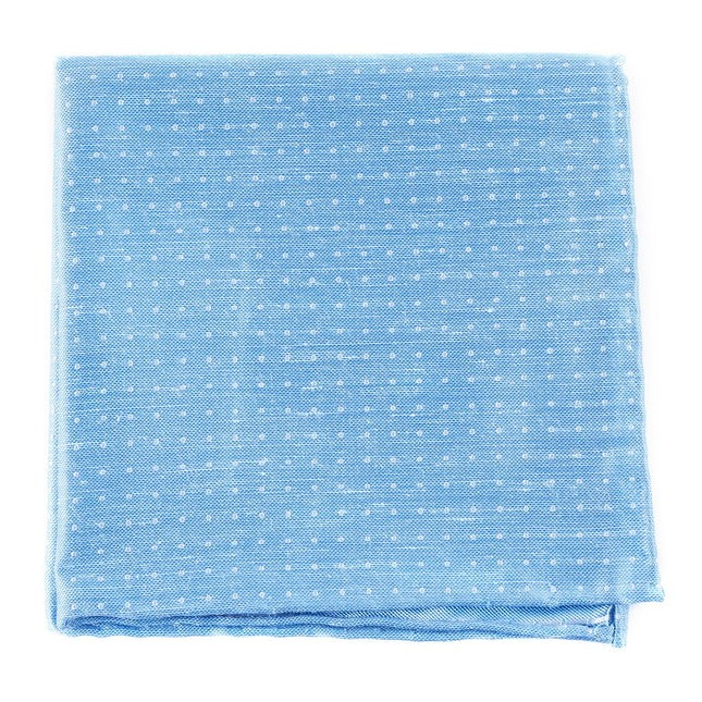 Destination Dots Light Blue Pocket Square