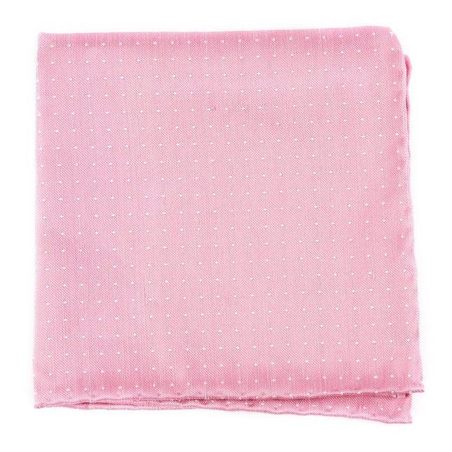 Destination Dots Pink Pocket Square