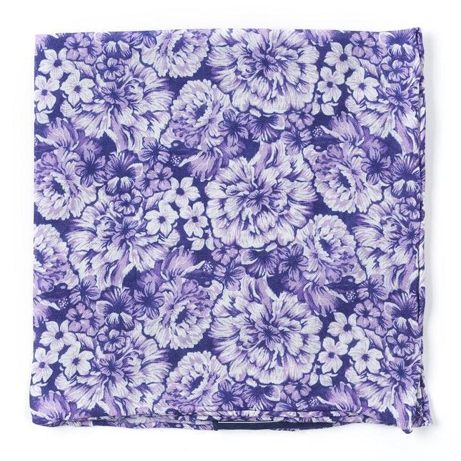 Botanic Purple Pocket Square
