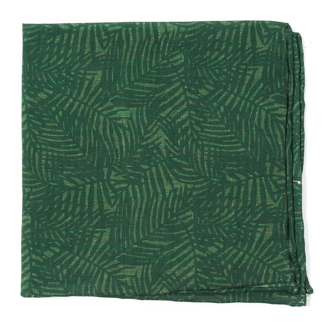 Palm Leaves Grass Green Pocket Square