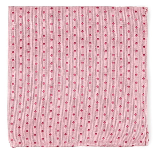 Shock Dots Baby Pink Pocket Square