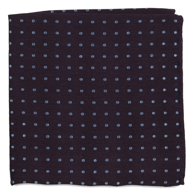 Dotted Dots Eggplant Pocket Square