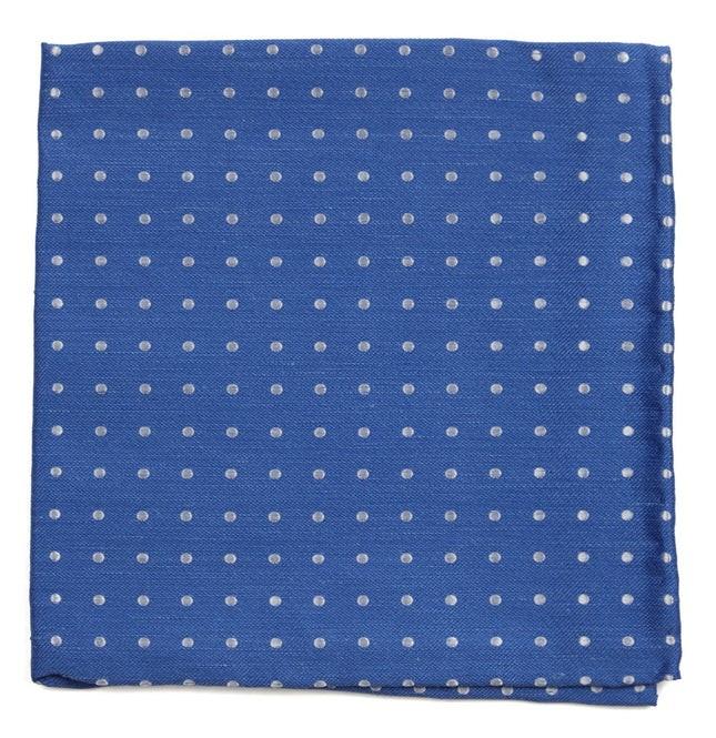 Dotted Dots Light Cobalt Blue Pocket Square