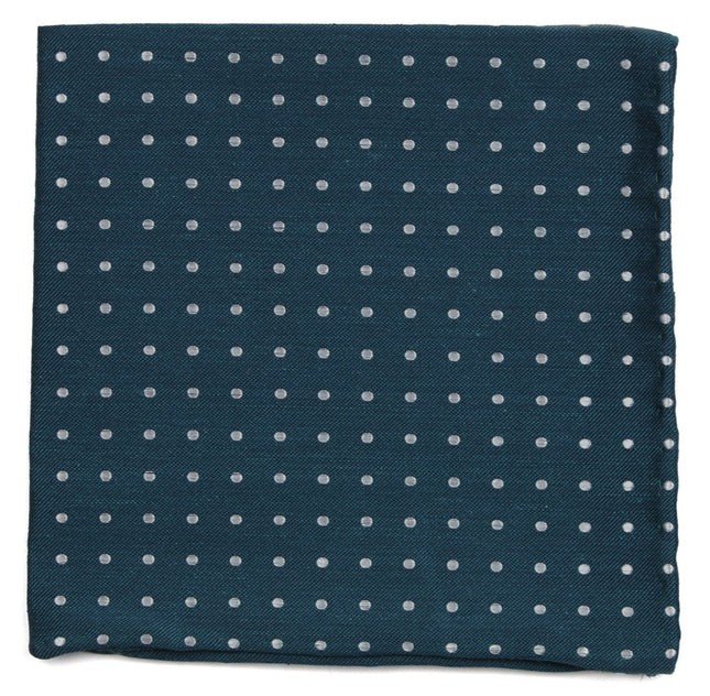 Dotted Dots Teal Pocket Square
