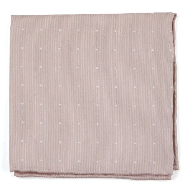 Bulletin Dot Blush Pink Pocket Square