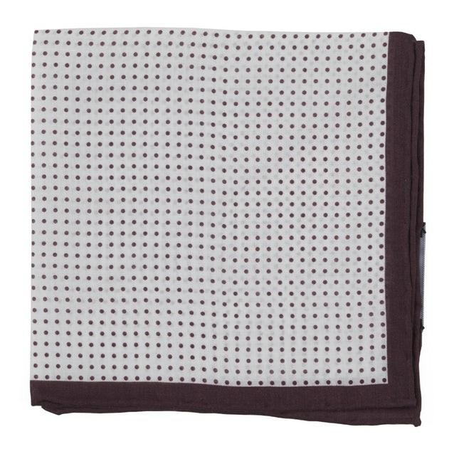 Domino Dots Burgundy Pocket Square