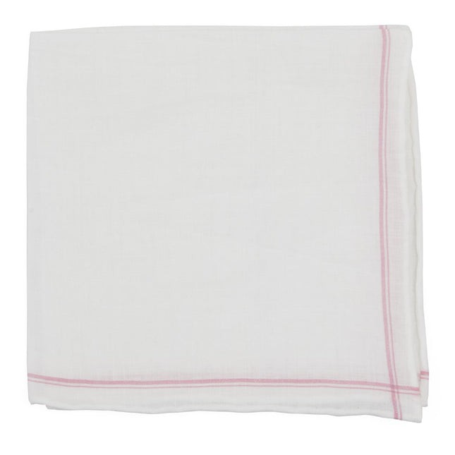 Binary Border Pink Pocket Square