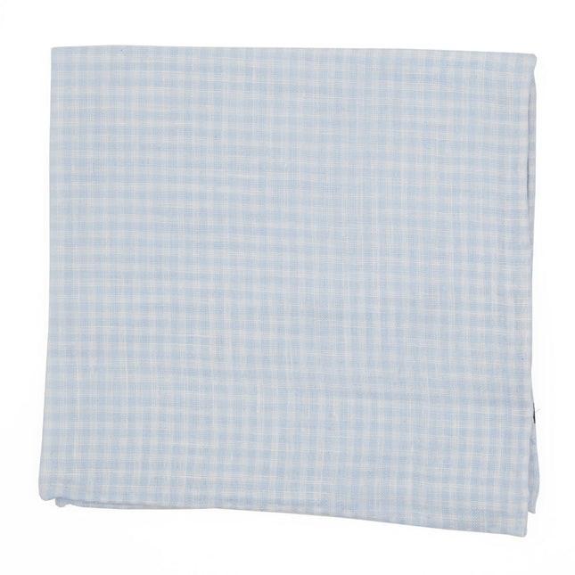 Revolution Checks Light Blue Pocket Square