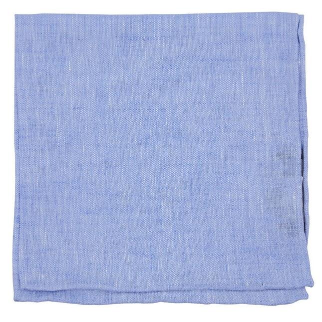 South End Solid Light Blue Pocket Square