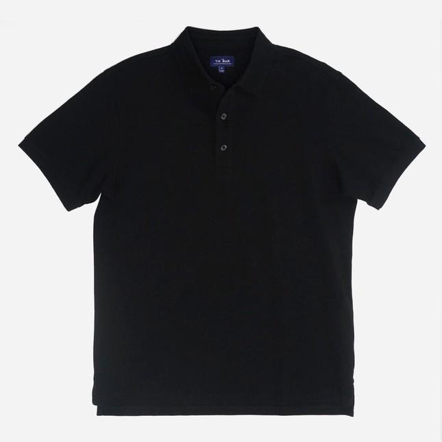 Pique Black Polo