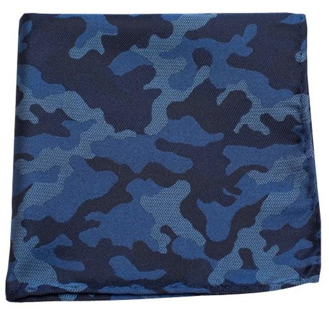 Camo Blue Pocket Square