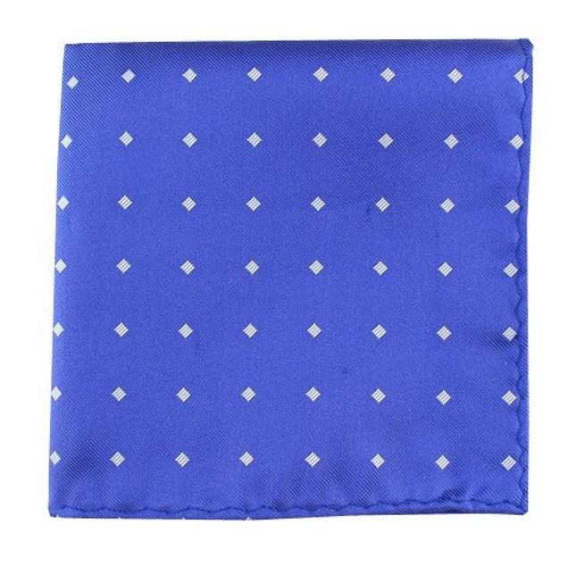 Checks & Balance Periwinkle Pocket Square