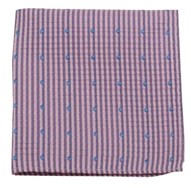 French Kiss Baby Pink Pocket Square
