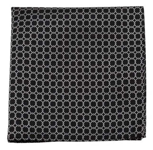 Chain Reaction Black Pocket Square