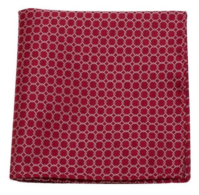 Chain Reaction Red Pocket Square