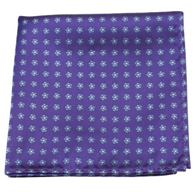 Anemones Purple Pocket Square